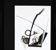 Nina Annabelle Märkl | Balancing the Whimsical 2 | Ink on paper, cutouts, brass | 105 x 75 x 5 cm | 2015