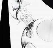 Nina Annabelle Märkl | Torsionen 4 | 105 x 75 x 5 cm | Ink on folded paper, Cutouts, black cardboard | 2016