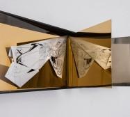 Nina Annabelle Märkl | Space 6.1. | Ink on folded paper, cutouts, polished steel | 30 x 40 x 25 cm | 2017