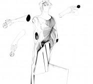 Nina Annabelle Märkl | Applikationen 1 | Tusche und Bleistift auf Papier | 35,5 x 28 cm | 2018