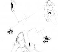 Nina Annabelle Märkl | Desideranten, Desiderate 4 | Tusche und Bleistift auf Papier | 35,5 x 28 cm | 2018