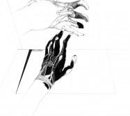 Nina Annabelle Märkl | Desideranten, Desiderate 9 | Tusche und Bleistift auf Papier | 35,5 x 28 cm | 2018