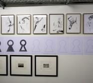 Nina Annabelle Märkl, Olaf Probst, Yves Chaudouet | Diese nicht ganz Zusammenpassung | Exhibition view | Kunstarkaden | München | photo: Tom Garrecht