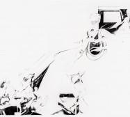 Nina Annabelle Märkl | Sie entziehen sich Ihrer Fixierung | ink pencil on paper | 136 x 185 cm | 2012