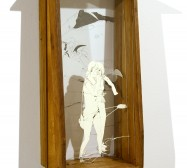 Nina Annabelle Märkl | All these mermaids I | ink on paper cut outs drawer | 72 x 25 x 20 cm | 2009