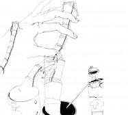 Nina Annabelle Märkl | Automat I | ink on paper | 29,7 x 21 cm | 2009