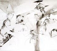 Nina Annabelle Märkl | Casting shadows II | ink pencil charcoal on paper | 110 x 160 cm | 2011