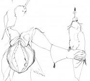 Nina Annabelle Märkl | Falknerin | ink on paper | 21 x 15 cm | 2009