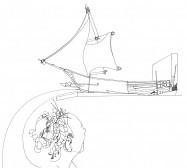 Nina Annabelle Märkl | Galionsfigur | ink on paper | 29,7 x 21 cm | 2009