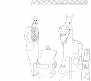 Nina Annabelle Märkl | Heilige Familie | ink on paper | 29,7 x 21 cm | 2009