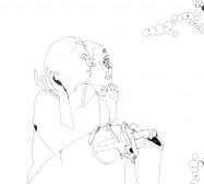 Nina Annabelle Märkl | Automat IV | ink on paper | 29,7 x 21 cm | 2009