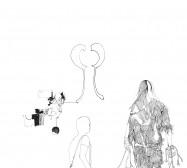 Nina Annabelle Märkl | Nach Hause | ink on paper | 29,7 x 21 cm | 2009