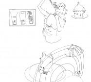 Nina Annabelle Märkl | Neun Planeten | ink on paper | 29,7 x 21 cm | 2007