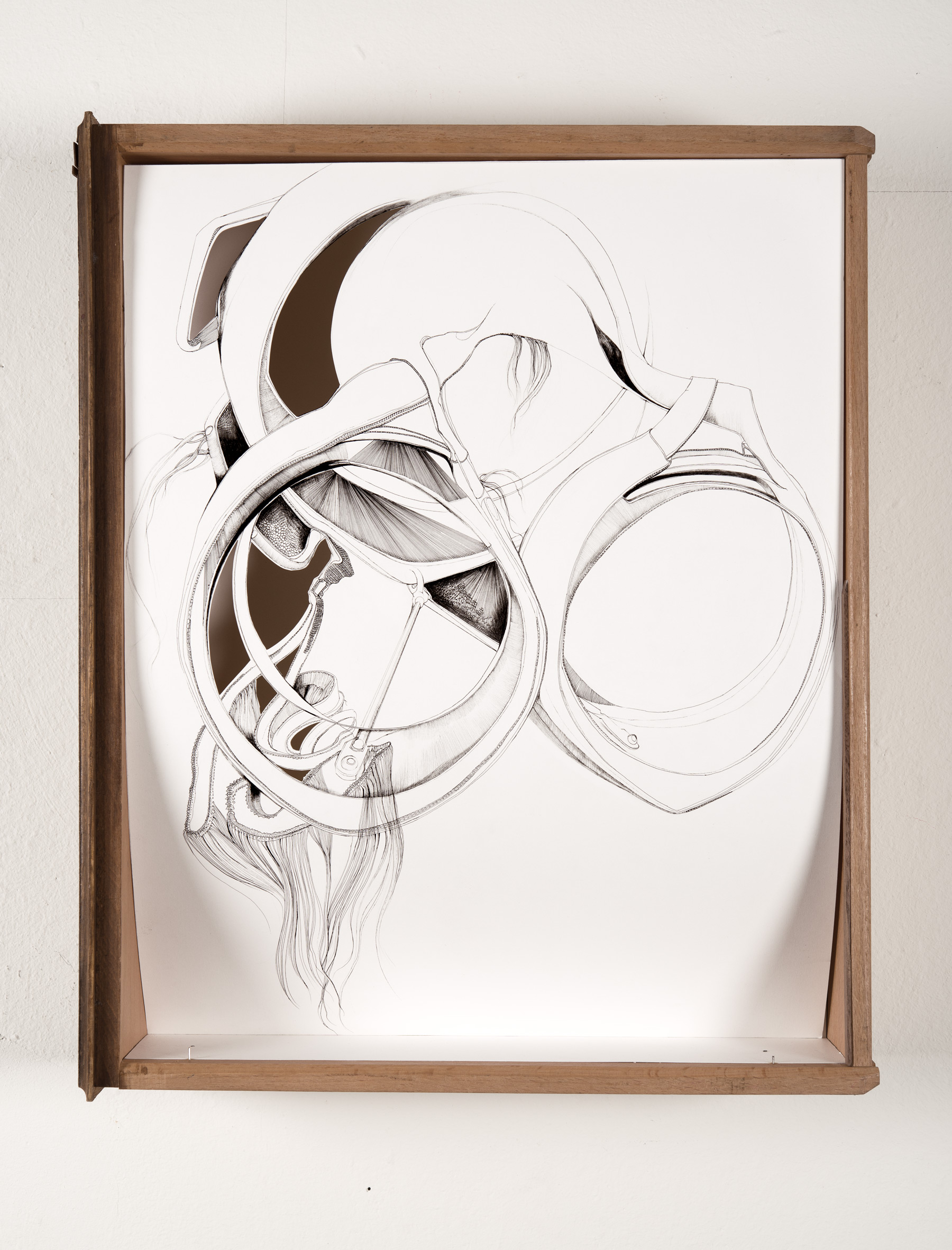 Nina Annabelle Märkl   Useful Things 1   Ink on paper Cut Outs wooden box   46 x 38 x 11 cm   2014