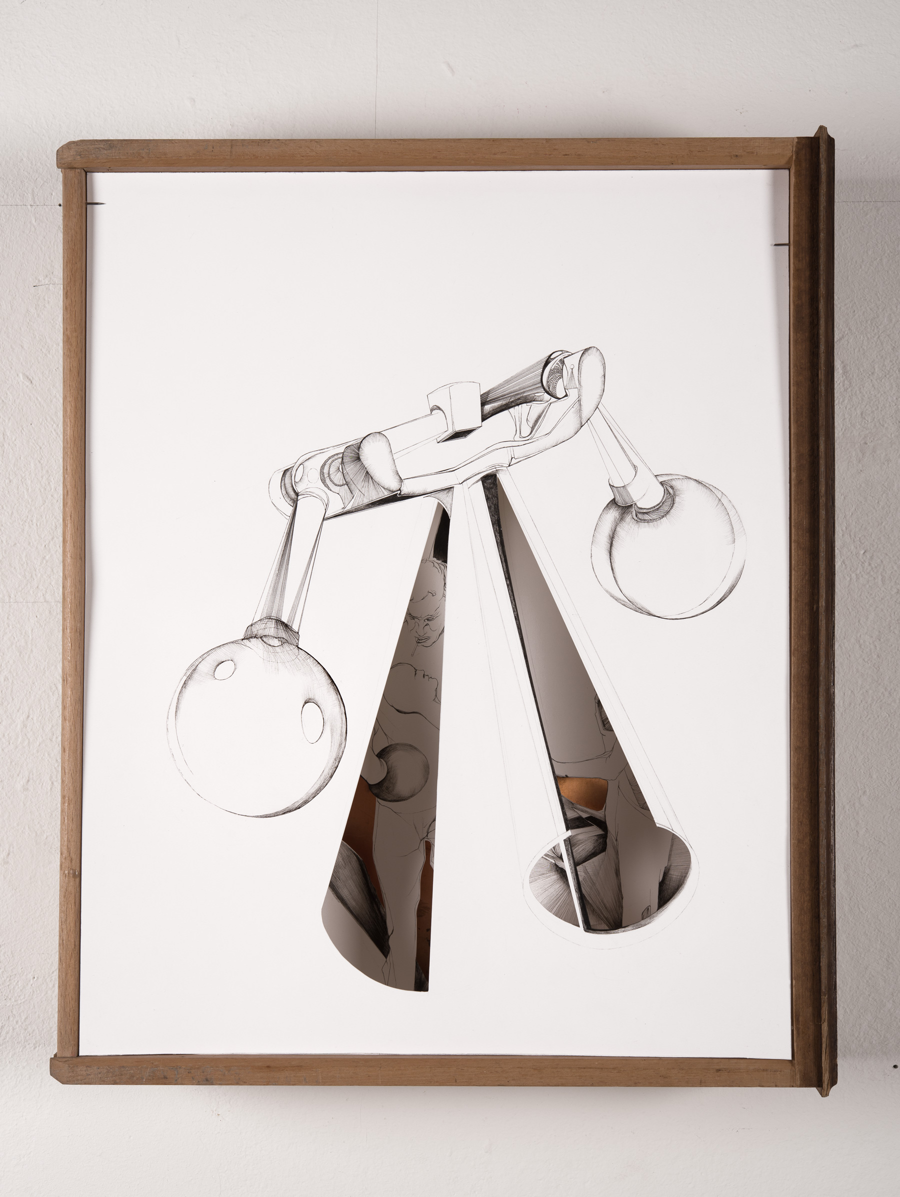 Nina Annabelle Märkl | Useful Things 2 | Ink on paper Cut Outs wooden box | 46 x 38 x 11 cm | 2014