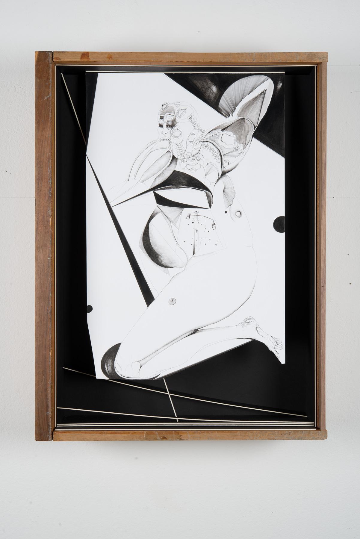 Nina Annabelle Märkl | Black box | Ink on paper, cut outs, black paper, wooden box | 55 x 43,5 x 15 cm | 2014