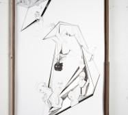 Nina Annabelle Märkl | Modell Nummer 4 | Ink on paper, cut outs, aluminium | 59 x 42 cm