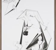 Nina Annabelle Märkl | Modell Nummer 4 | ink on paper, cut outs, alumnium | 59 x 42 cm