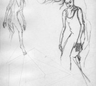 Nina Annabelle Märkl | Moshpit 5|11 | Kaltnadel, Tusche, Bleistift, 300g Hahnemühle Büttenpapier | Platte 29,7 x 27 cm Papier 56 x 39 cm