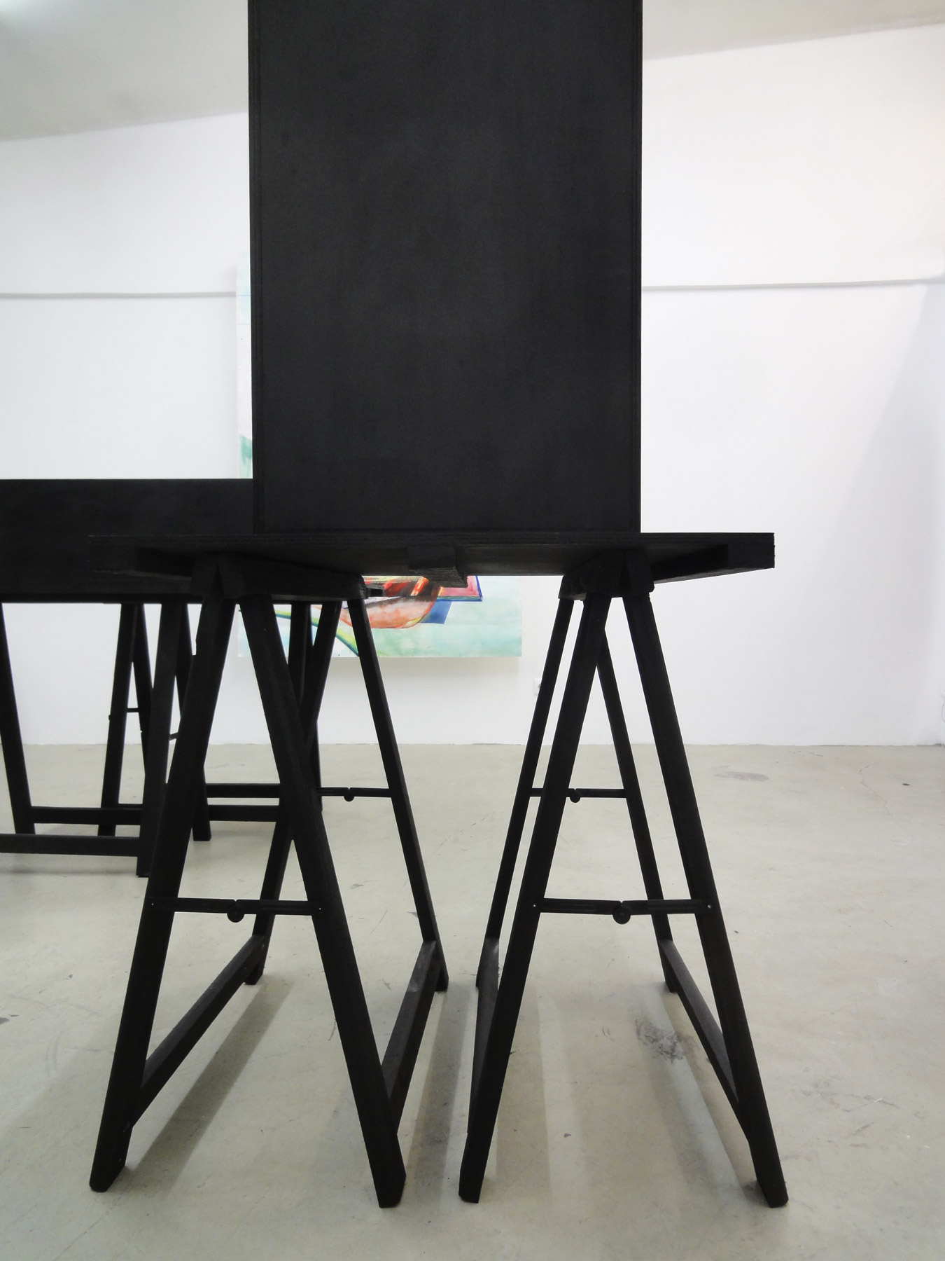 Nina Annabelle Märkl | Possible sculptures for a life somehow distracted | Installation with Jenny Forster (paintings) | 2015