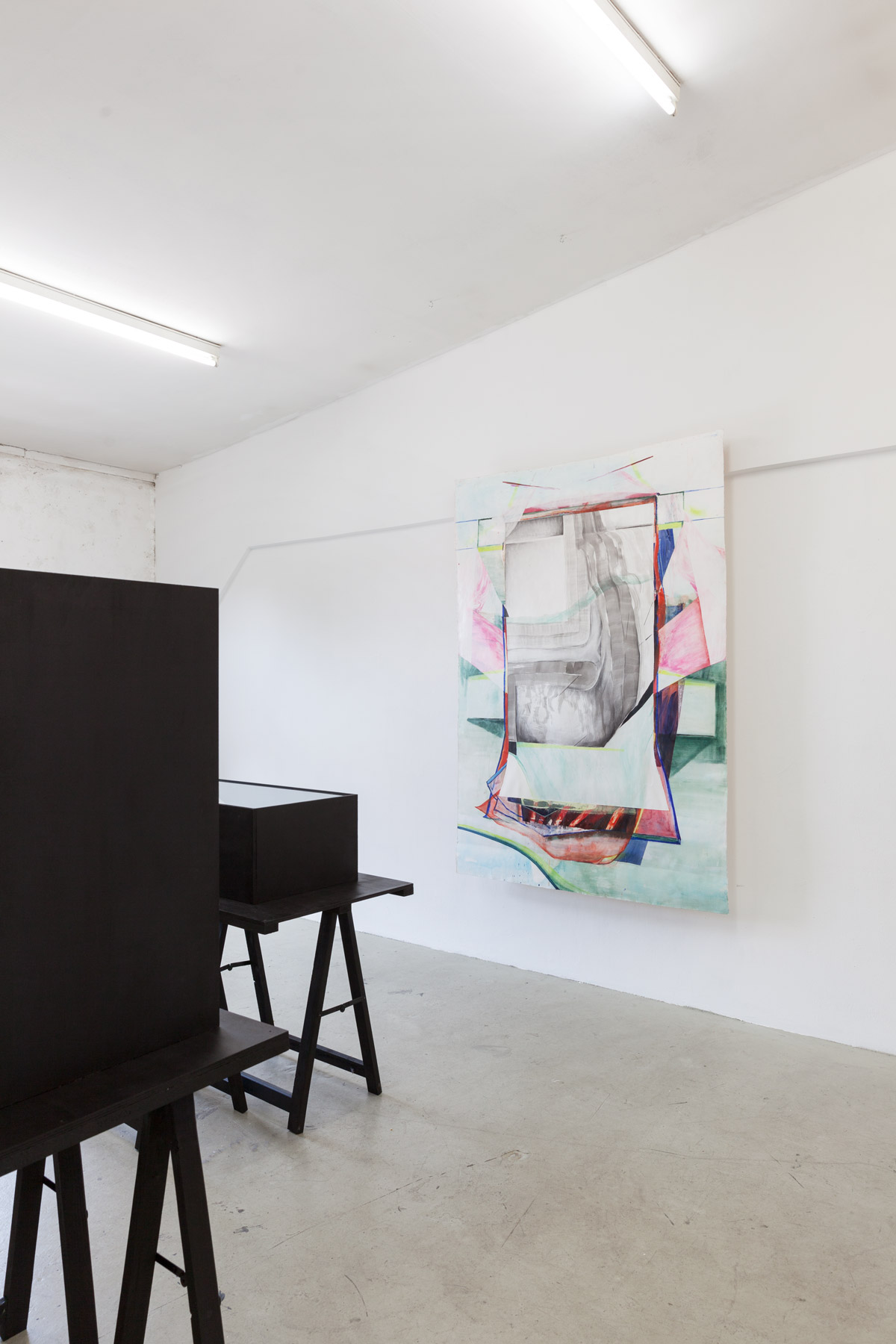 Nina Annabelle Märkl | Possible sculptures for a life somehow distracted | Installation with Jenny Forster (paintings) | photo: Basti Schels| 2015
