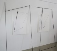 Nina Annabelle Märkl | Fiction follows form | Ink on paper cut outs steel | Installation | size flexible | 2015