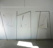 Nina Annabelle Märkl   Fiction follows form   Ink on paper cut outs steel   Installation   size flexible   2015