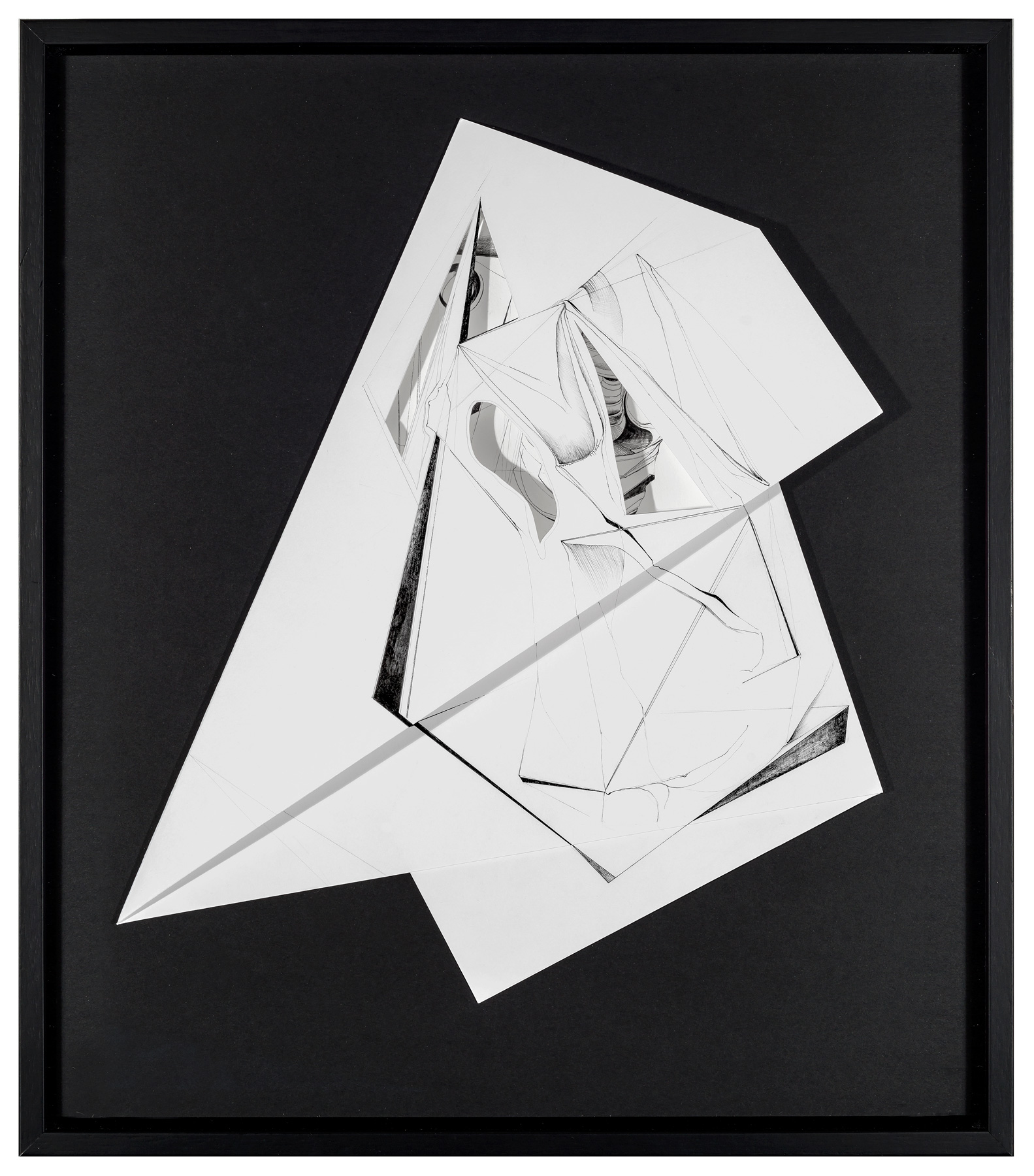 Nina Annabelle Märkl | Fragmented Fiction V | Ink on folded paper cut outs | 47 x 33 cm | 2015 | photo: Walter Bayer