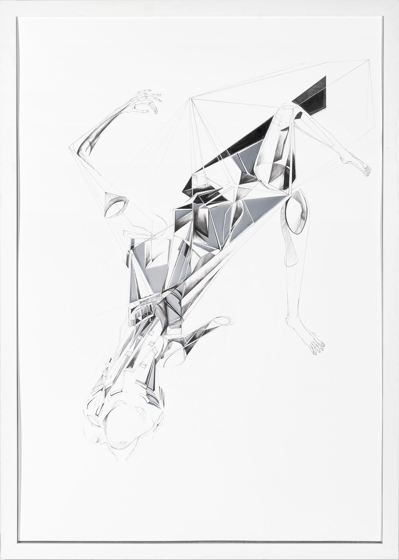 Nina Annabelle Märkl | Showcase | Ink and pencil on paper, cut outs, aluminium | 100 x 70 x 3,5 cm | 2014 | photo: Walter Bayer