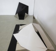 Nina Annabelle Märkl | Tangrammatics | Ink on folded paper cut outs mixed media | Installation | size flexible | 2015