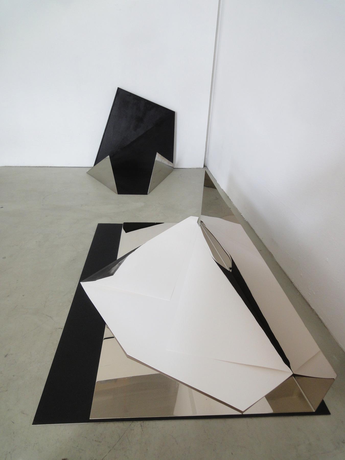 Nina Annabelle Märkl   Tangrammatics   Ink on folded paper cut outs mixed media   Installation   size flexible   2015