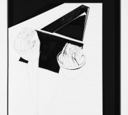 Nina Annabelle Märkl | Broken Display | Ink and pencil on paper, cut outs, black cardboard | 70 x 50 x 3,5 cm | 2015 | photo: Walter Bayer