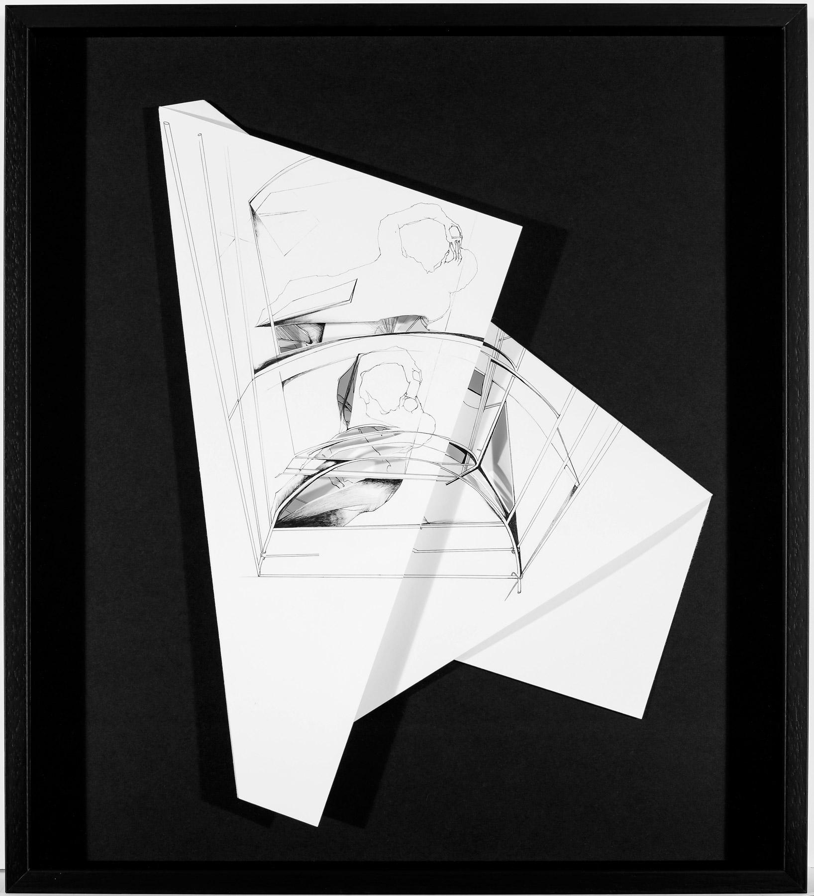 Nina Annabelle Märkl   Hidden Tracks IV   Ink on folded paper cut outs   40 x 36 cm   2015