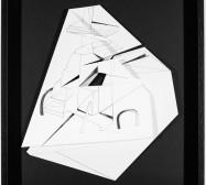 Nina Annabelle Märkl | Hidden Tracks V | Ink on folded paper cut outs | 40 x 36 cm | 2015