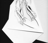 Nina Annabelle Märkl | Inselgruppe bei Kunstlicht | Ink on folded paper, Cut - Outs | Detail | 2016