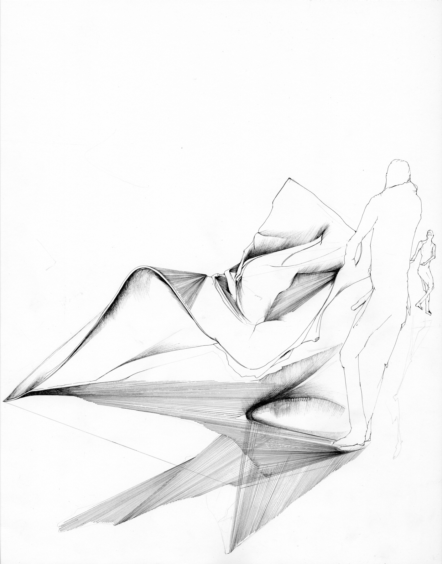 Nina Annabelle Märkl | Deconstruction of Possible Spaces | Ink on Paper | 35,5 x 27,5 cm | 2016