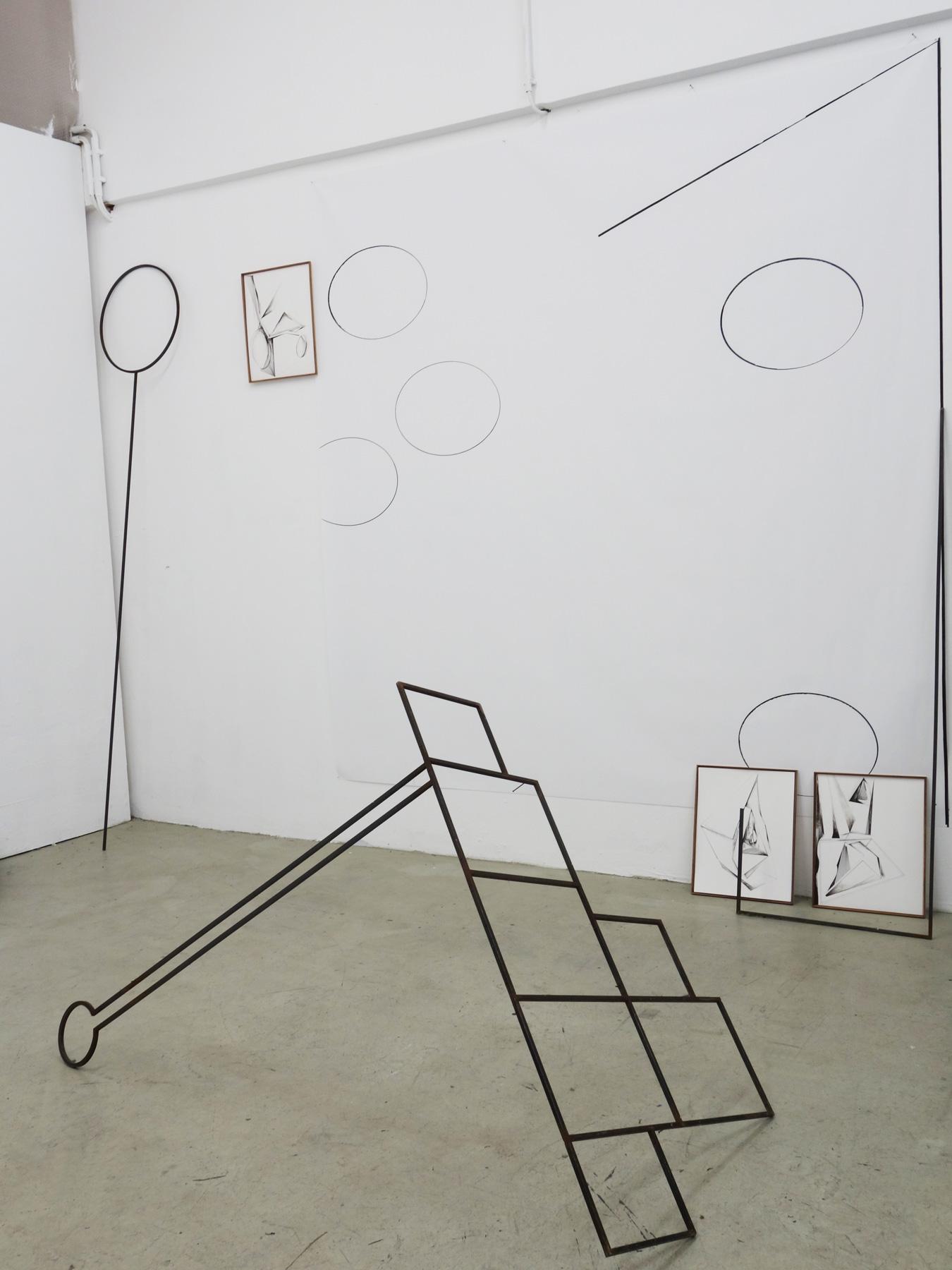 Nina Annabelle Märkl   Shifting Perceptions   Installation   Wood, Ink on paper, Steel   2016