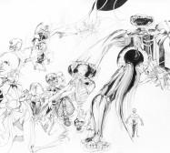 Nina Annabelle Märkl | Der kleine Tod in Gesellschaft| Ink on paper | 29,7 x 48,9 cm | 2012/2013