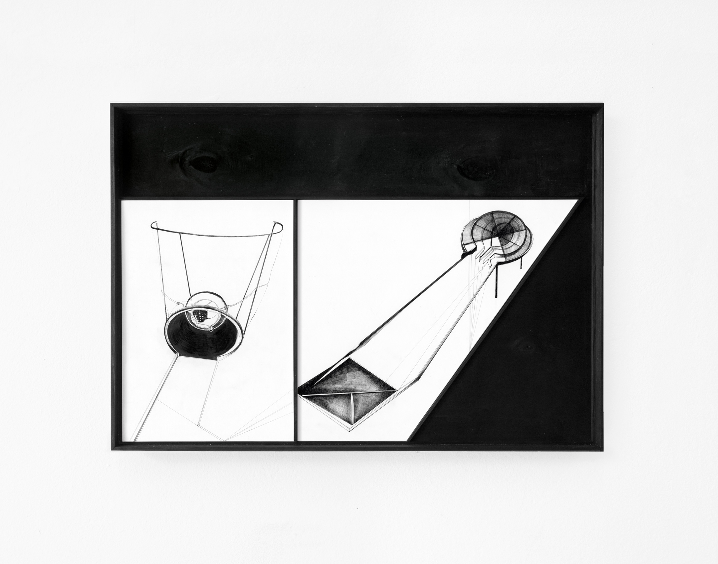 Nina Annabelle Märkl | Scapes 1 | Ink on paper, cutouts, wood | 40 x 60 cm | 2014