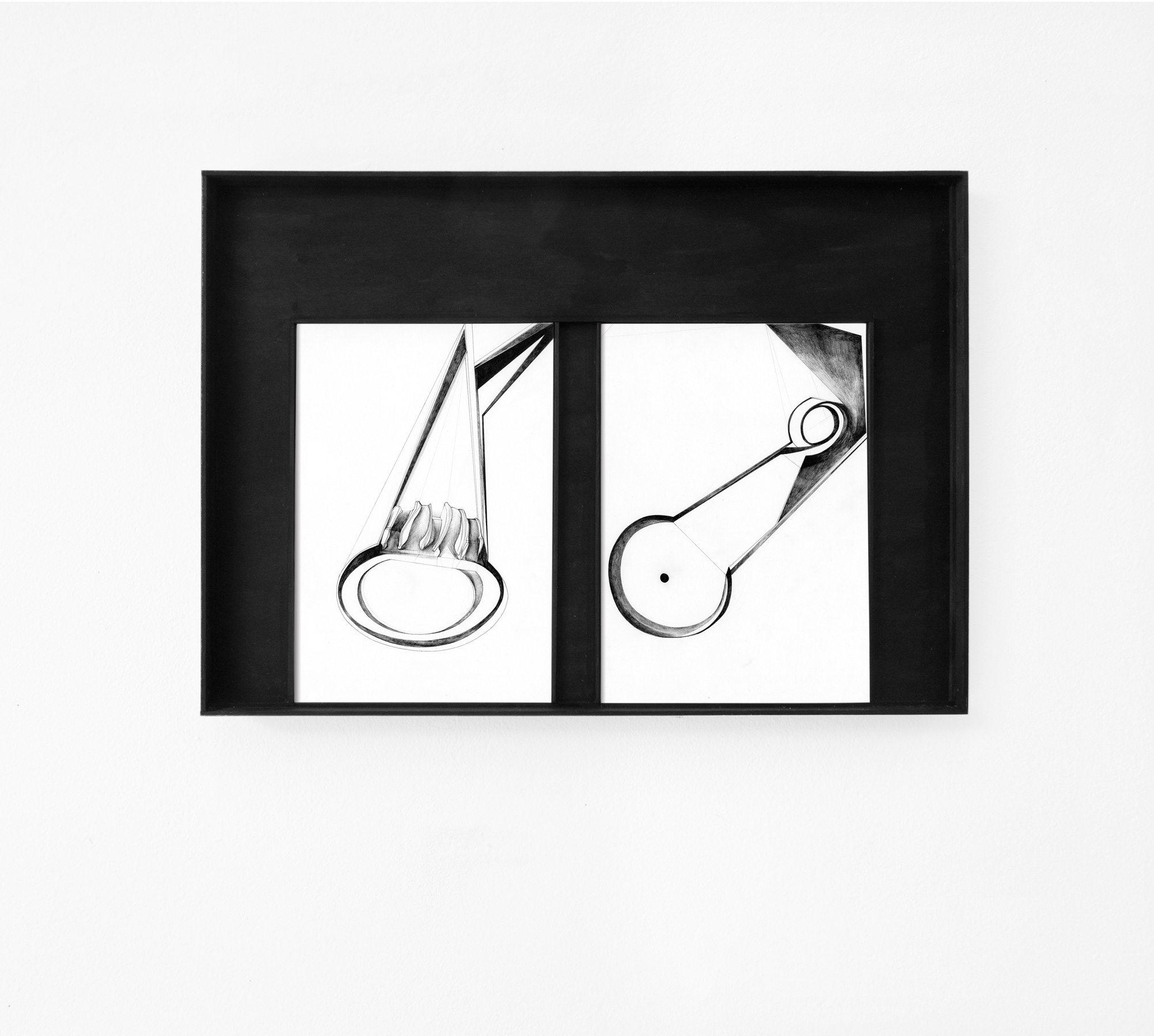 Nina Annabelle Märkl | Scapes 2 | Ink on paper, cutouts, wood | 40 x 60 cm | 2014