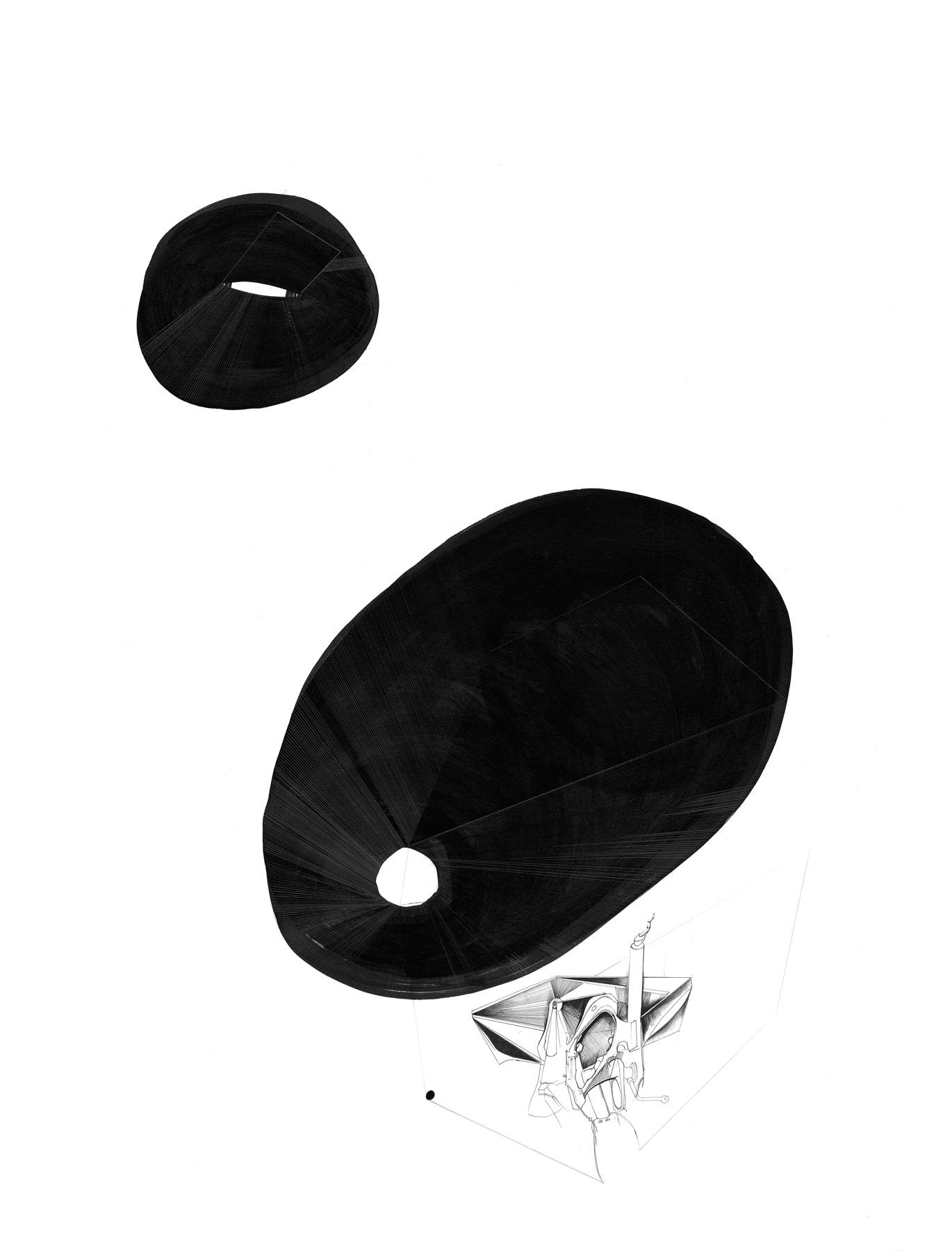 Nina Annabelle Märkl | Balancing the Whimsical 11 | Ink on paper | 60 x 48 cm | 2016