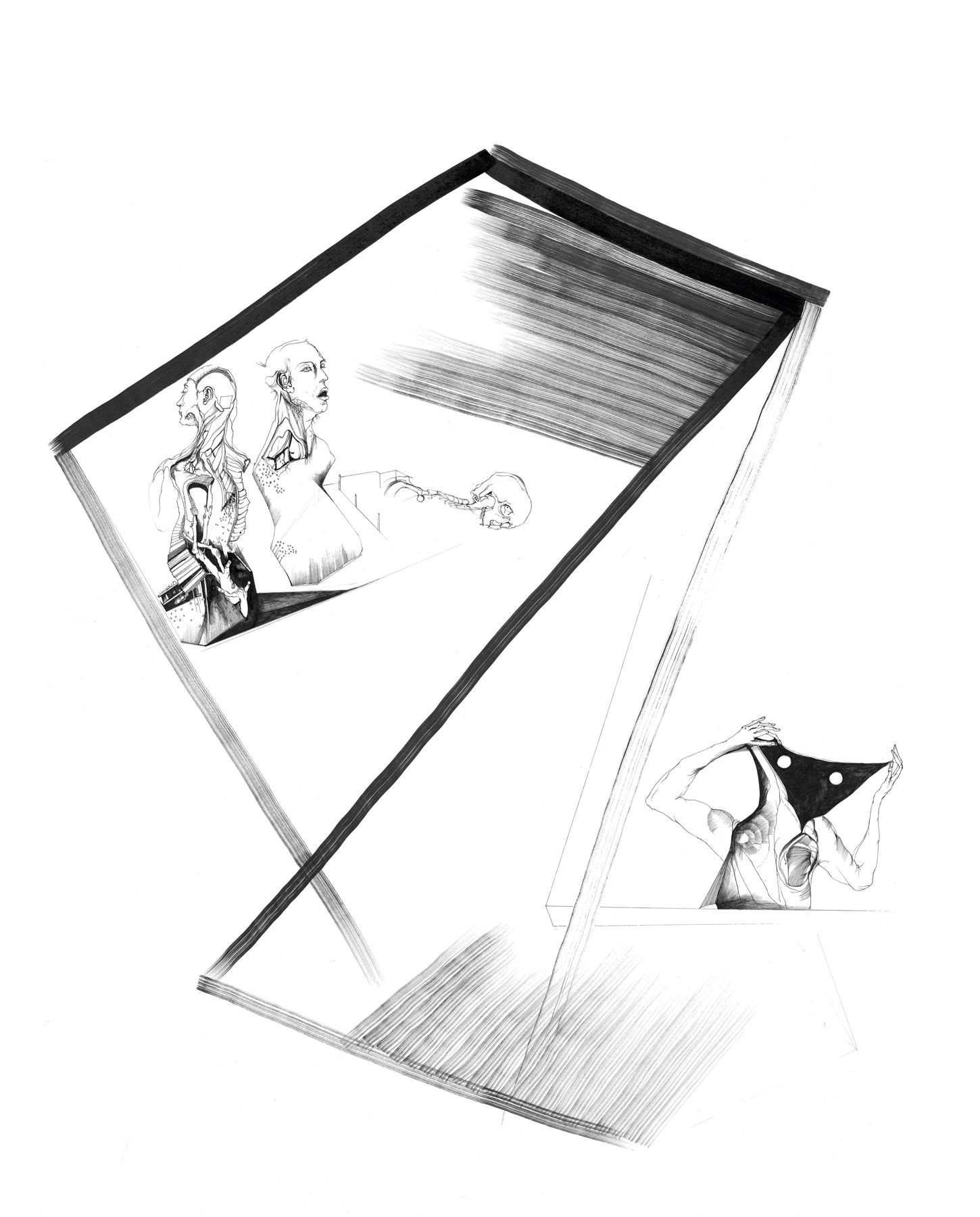 Nina Annabelle Märkl | Balancing the Whimsical 16 | Ink on paper | 60 x 48 cm | 2016