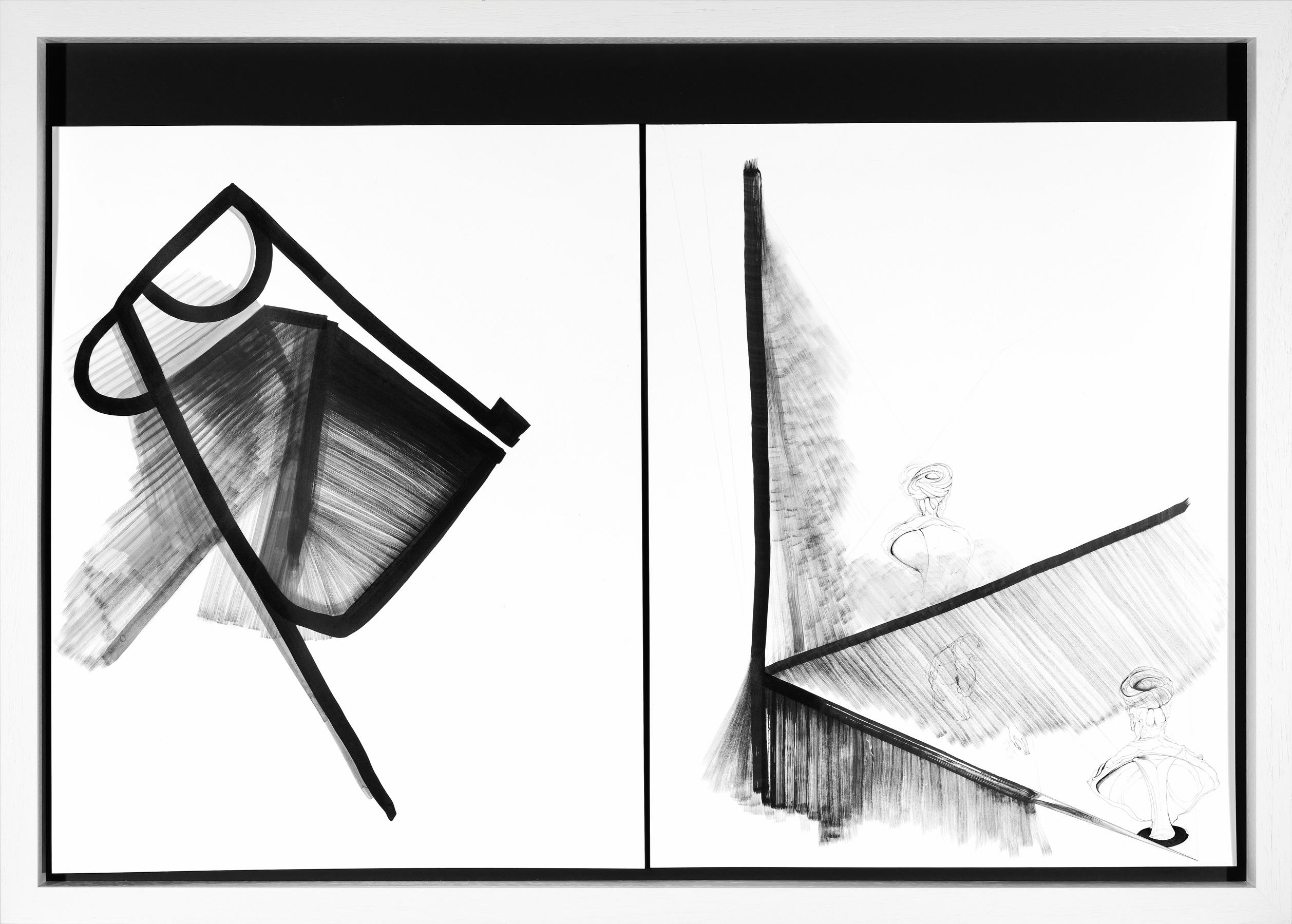 Nina Annabelle Märkl | Balancing the Whimsical 4 | Ink on paper | 75 x 105 x 5 cm | 2015