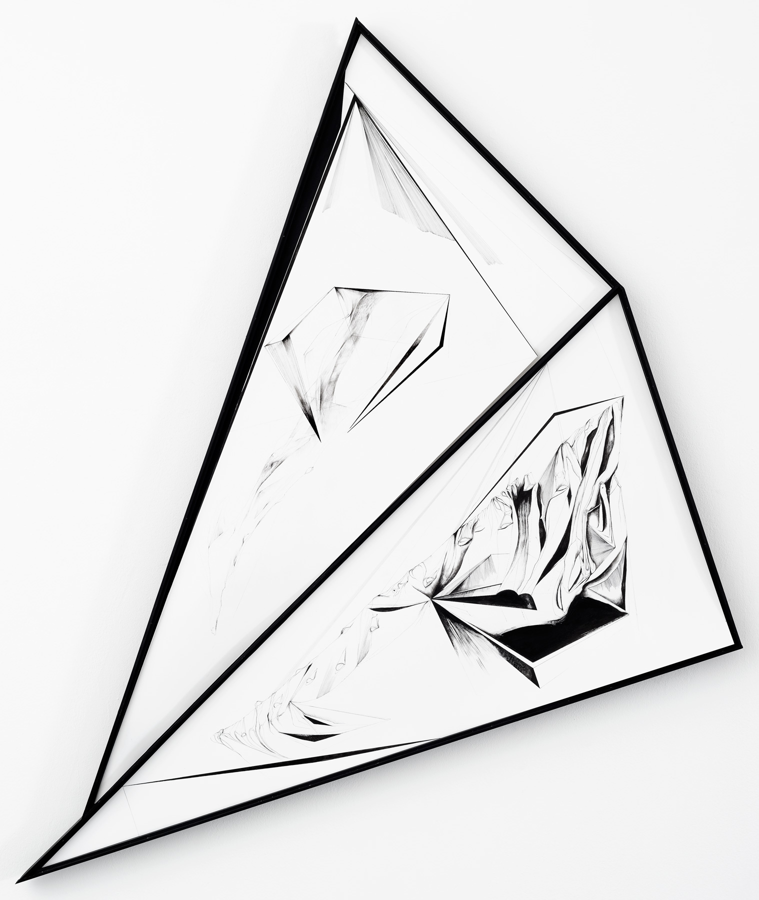 Nina Annabelle Märkl | Scapes 7 | 120 x 140 cm | Ink on folded paper, Cutouts, wood | 2016