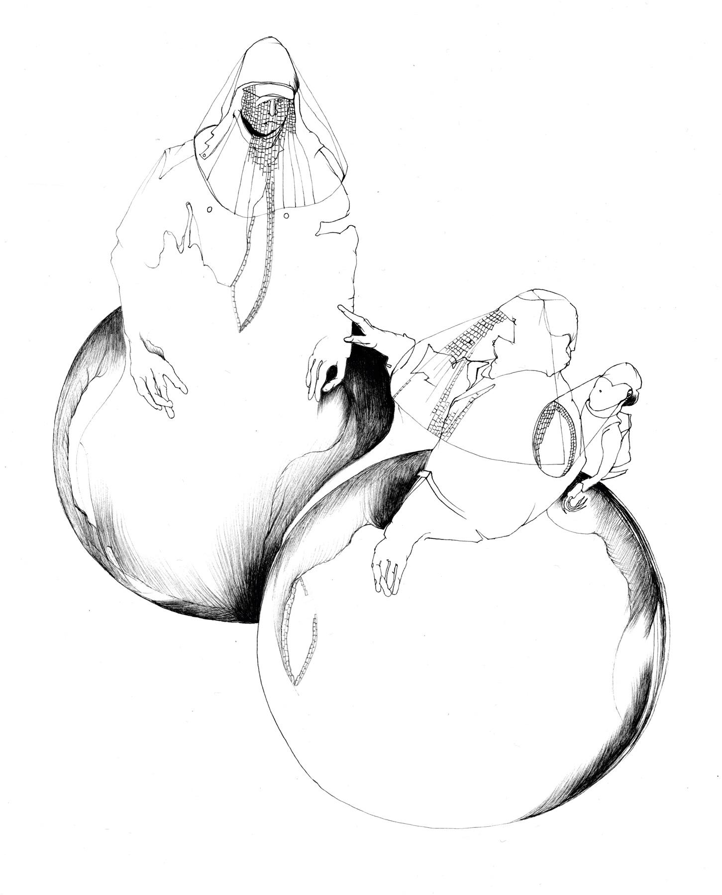 Nina Annabelle Märkl   Shadowboxers – Artist book   Ink on paper   35 x 26 cm   2011
