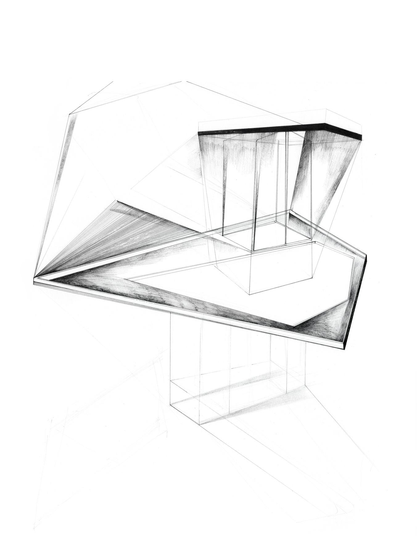 Nina Annabelle Märkl | Shifting perceptions muc_10 | ink on paper | 35,5 x 27,5 cm| 2016