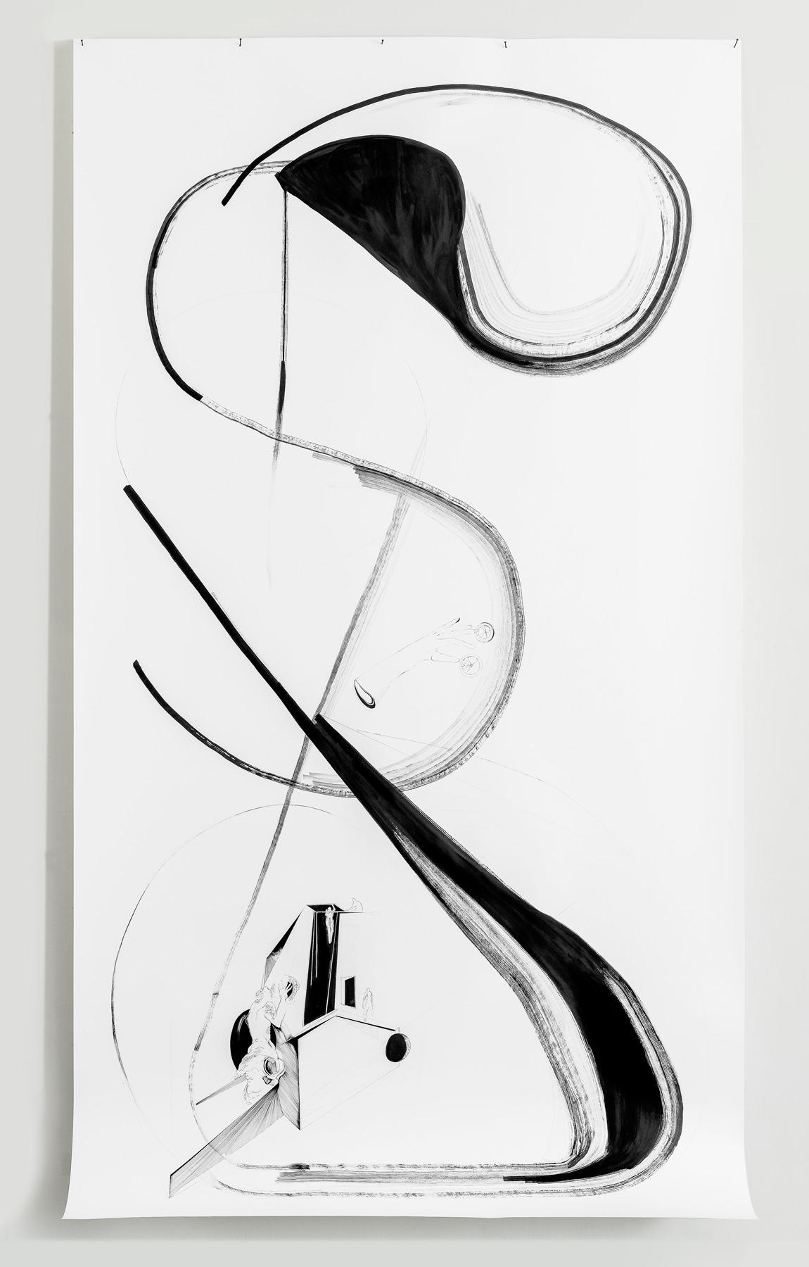 Nina Annabelle Märkl | Displays 5 | Ink on paper | 270 x 135 cm | 2017/2018