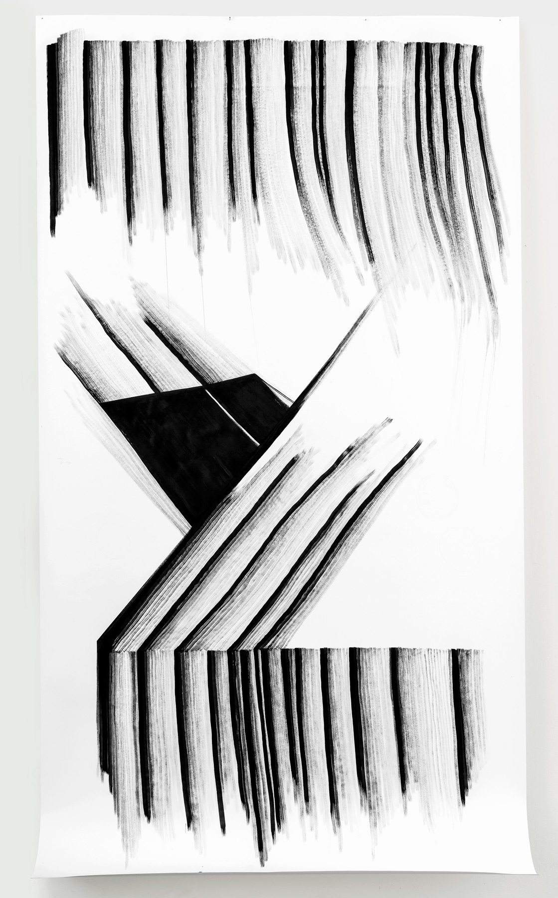 Nina Annabelle Märkl | Displays 3 | Ink on paper | 270 x 135 cm | 2017/2018