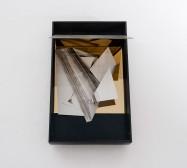 Nina Annabelle Märkl | Space 3 | ink on folded paper, cutouts, polished steel | 44 x 28 x 25 cm | 2016