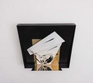 Nina Annabelle Märkl | Space 4 | Ink on folded paper, cutouts, polished steel | 44 x 44 x 25 cm | 2016